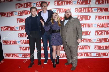 Stock Photo of Jack Lowden, Stephen Merchant, Florence Pugh and Nick Frost.