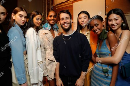 Stock Image of Simon Porte Jacquemus backstage