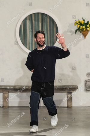 Stock Picture of Simon Porte Jacquemus on the catwalk