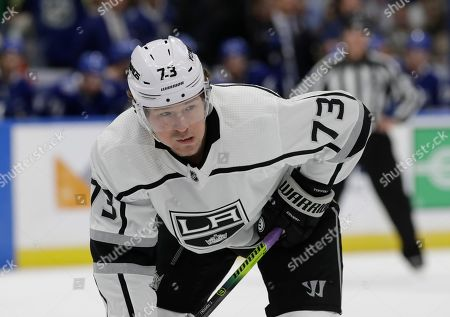 Los Angeles Kings right wing Tyler Toffoli (73) during the first period of an NHL hockey game against the Tampa Bay Lightning, in Tampa, Fla