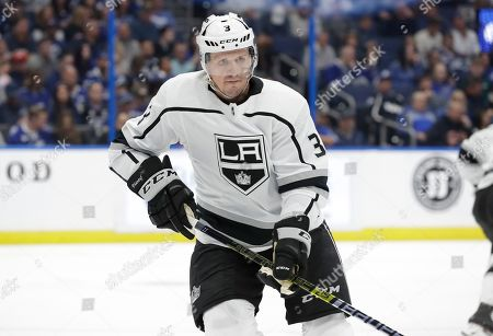 Los Angeles Kings defenseman Dion Phaneuf (3) during the second period of an NHL hockey game against the Tampa Bay Lightning, in Tampa, Fla