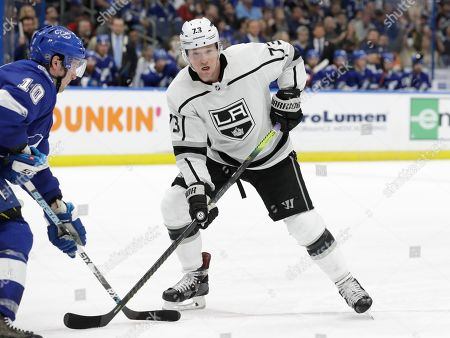 Los Angeles Kings right wing Tyler Toffoli (73) during the third period of an NHL hockey game against the Tampa Bay Lightning, in Tampa, Fla