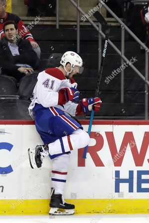 Montreal Canadiens left wing Paul Byron celebrates his third period goal  against the New Jersey Devils ... 4038c4c11