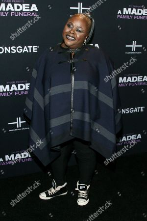 """Stock Picture of Cassi Davis attends a special screening of Tyler Perry's """"A Madea Family Funeral"""" at the SVA Theatre, in New York"""