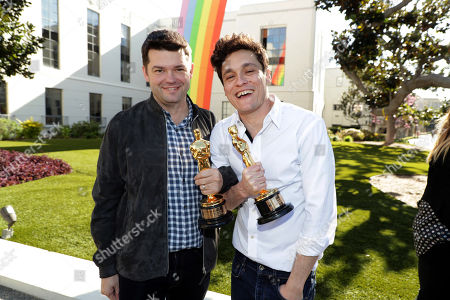 February 25, 2019 - Producer Christopher Miller and Producer Phil Lord seen at Sony Pictures and Sony pictures animation post Oscar celebration in Culver City, CA.