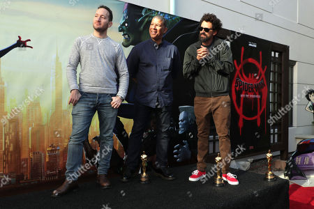 February 25, 2019 - Director Rodney Rothman, Director Peter Ramsey and Director Bob Persichetti seen at Sony Pictures and Sony pictures animation post Oscar celebration in Culver City, CA.