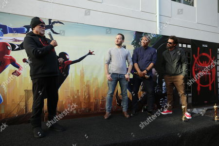 February 25, 2019 - Producer Avi Arad, Director Rodney Rothman, Director Peter Ramsey and Director Bob Persichetti seen at Sony Pictures and Sony pictures animation post Oscar celebration in Culver City, CA.