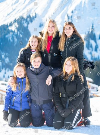 Princess Amalia, Princess Alexia, Princess Ariane, Countess Eloise, Count Claus-Casimir and Countess Leonore