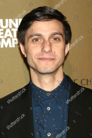 """Gideon Glick attends the Roundabout Theatre Company's 2019 Gala, """"Quite the Character: An Evening Celebrating John Lithgow """", at The Ziegfeld Ballroom, in New York"""