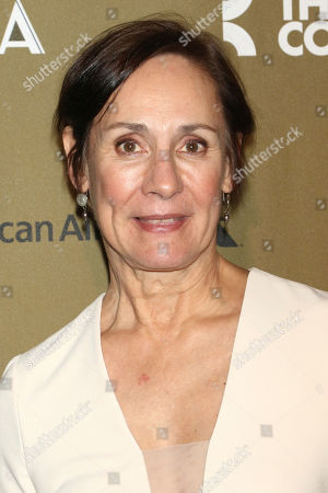 """Laurie Metcalf attends the Roundabout Theatre Company's 2019 Gala, """"Quite the Character: An Evening Celebrating John Lithgow """", at The Ziegfeld Ballroom, in New York"""