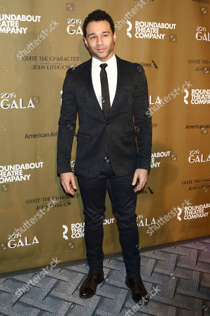 "Corbin Bleu attends the Roundabout Theatre Company's 2019 Gala, ""Quite the Character: An Evening Celebrating John Lithgow "", at The Ziegfeld Ballroom, in New York"