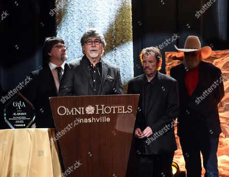 Teddy Gentry, Randy Owen Jeff Cook of Alabama with Charlie Daniels