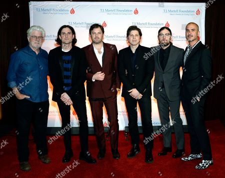 Michael McDonald with King of Leon's Jared Followill, Caleb Followill, Matthew Followill, Nathan Followill and Apple Music's Zane Lowe