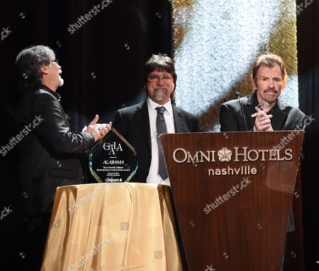 Randy Owen, Teddy Gentry, Jeff Cook of Alabama
