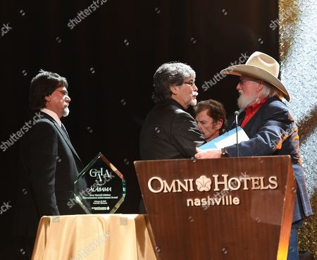 Randy Owen, Teddy Gentry, Jeff Cook of Alabama with Charlie Daniels