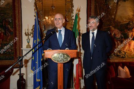 Stock Image of Italian Ambassador, Raffaele Trombetta and Luca Del Bono