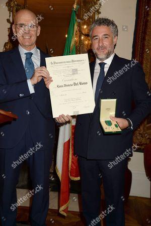 Editorial image of Luca Del Bono receives The Order of Merit of the Italian Republic, London, UK - 25 Feb 2019