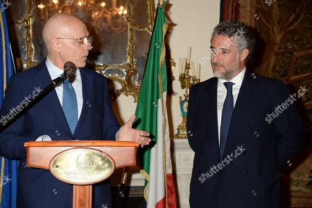 Italian Ambassador, Raffaele Trombetta and Luca Del Bono