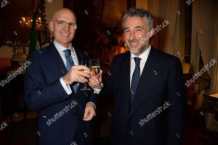 Stock Picture of Italian Ambassador, Raffaele Trombetta and Luca Del Bono