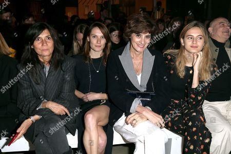 Stock Image of Emmanuelle Alt, Ana Girardot, Ines de la Fressange and daughter Violette d'Urso