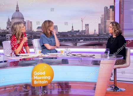 Charlotte Hawkins and Kate Garraway with Charlie Brooks