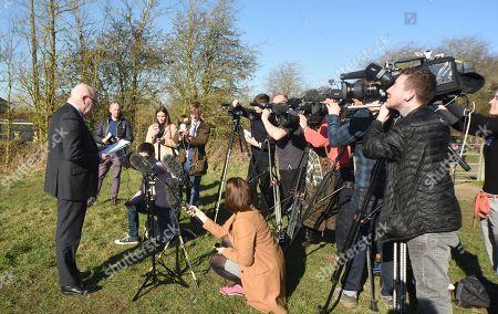 Editorial photo of Linda Razzell search, Pentylands Park, Swindon, Wiltshire, UK - 25 Feb 2019