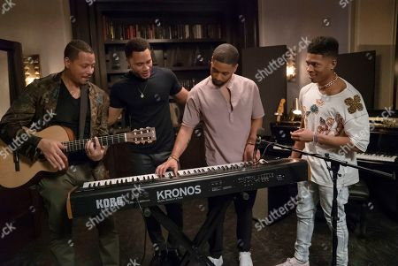 Terrence Howard as Lucious Lyon, Trai Byers as Andre Lyon, Jussie Smollett as Jamal Lyon and Bryshere Y. Gray as Hakeem Lyon