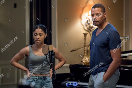 Stock Picture of Katlynn Simone as Treasure and Terrence Howard as Lucious Lyon