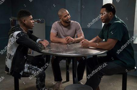 Bryshere Y. Gray as Hakeem Lyon, Jussie Smollett as Jamal Lyon and Trai Byers as Andre Lyon