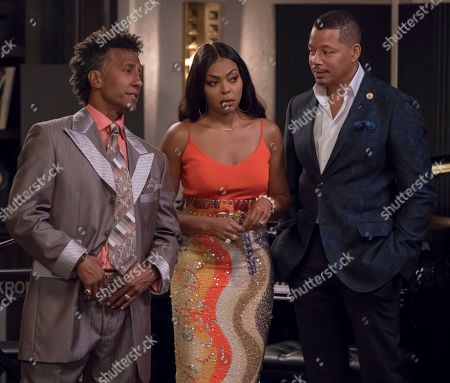 Stock Photo of Andre Royo as Thirsty Rawlings, Taraji P. Henson as Cookie Lyon and Terrence Howard as Lucious Lyon