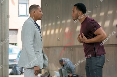 Terrence Howard as Lucious Lyon and Trai Byers as Andre Lyon