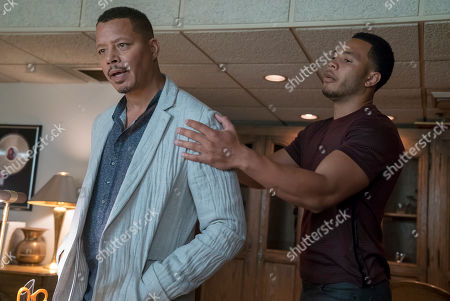 Stock Image of Terrence Howard as Lucious Lyon and Trai Byers as Andre Lyon