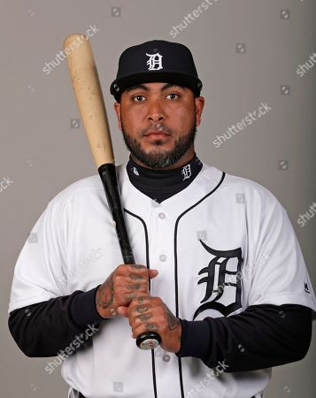 This is a 2019 photo of Hector Sanchez of the Detroit Tigers baseball team. This image reflects the 2019 active roster as of, when this image was taken