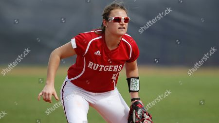 Jesse Hughes anticipates a play during an NCAA softball game on in Miami