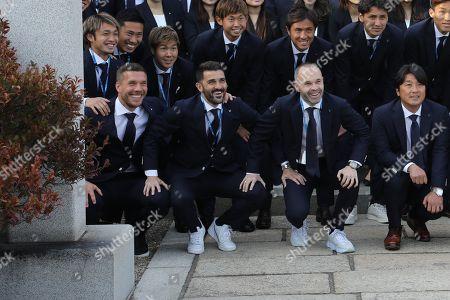 Lukas Podolski, David Villa and Andres Iniesta