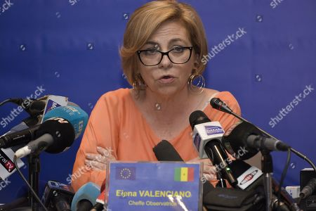Stock Photo of Head of the European Union Mission for Election Observation in Senegal, Elena Valenciano, speaks during a press conference in Dakar, Senegal, 26 February 2019. Preliminary results in the presidential elections indicate incumbent president Macky Sall has secured more than 50 percent of the vote to secure his second term in office. The elections held 24 February were the 11th straight presidential election since Senegal gained independence from France in 1960. The Electoral Commission is yet to release final results.