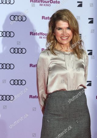 Anke Engelke attends the premiere of 'Rate Your Date' at the Sony Center in Berlin, Germany, 26 February 2019. The movie about the seemingly infinite possibilities offered by dating apps opens in German cinemas on 07 March.