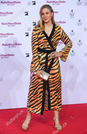 Stock Photo of Alicia Von Rittberg attends the premiere of 'Rate Your Date' at the Sony Center in Berlin, Germany, 26 February 2019. The movie about the seemingly infinite possibilities offered by dating apps opens in German cinemas on 07 March.
