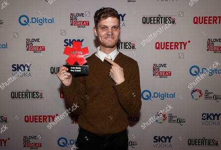 """Stock Picture of David Craig, winner of the Indie Movie Queerty Award - """"Boy Erased"""""""