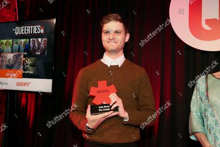 "Stock Photo of David Craig, winner of the Indie Movie Queerty Award - ""Boy Erased"""
