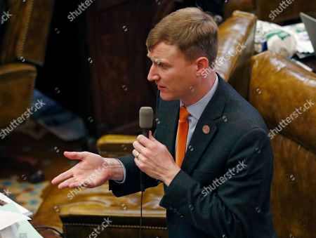 Rep. Joel Bomgar, R-Madison, asks a question during floor debate over a number of bond bills, at the Capitol in Jackson, Miss