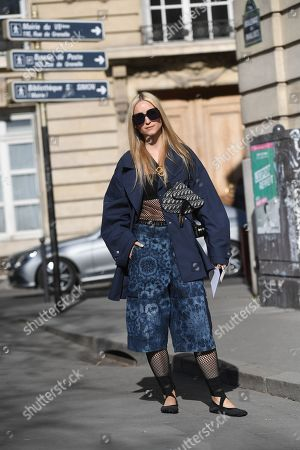 Editorial picture of Street Style, Fall Winter 2019, Paris Fashion Week, France - 26 Feb 2019