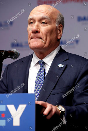 Chicago mayoral candidate Bill Daley speaks during an election night celebration in Chicago, . Daley concedes in the Chicago mayoral race, as Lori Lightfoot and Toni Preckwinkle emerge from a crowded field of 14 candidates and advance to a runoff on April 2