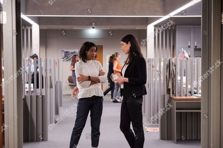 Keke Palmer as April Lewis and Michelle Forbes as Valerie Edwards
