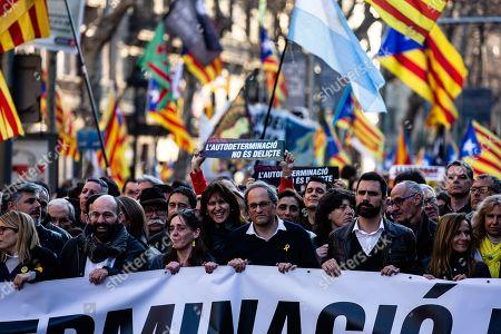 President of Catalonia Joaquim Torra and the President of Catalan Parliament Roger Torrent