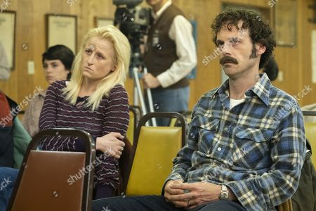 Mamie Gummer as Lucy Purcell and Scoot McNairy as Tom Purcell