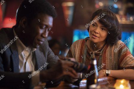 Stock Photo of Mahershala Ali as Detective Wayne Hays and Carmen Ejogo as Amelia Reardon