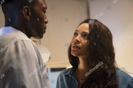 Mahershala Ali as Detective Wayne Hays and Carmen Ejogo as Amelia Reardon