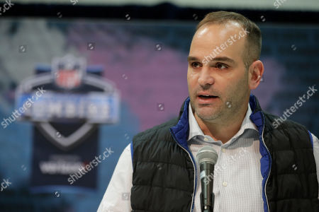 David Caldwell, #2. Jacksonville Jaguars general manager David Caldwell speaks during a press conference at the NFL football scouting combine in Indianapolis