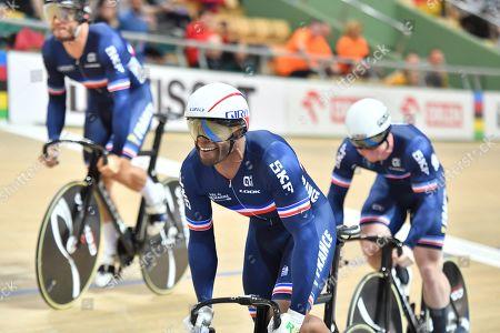 Stock Picture of Men's Team Sprint -  Gregory Bauge, Sebastien Vigier and Quentin Lafargue of France.